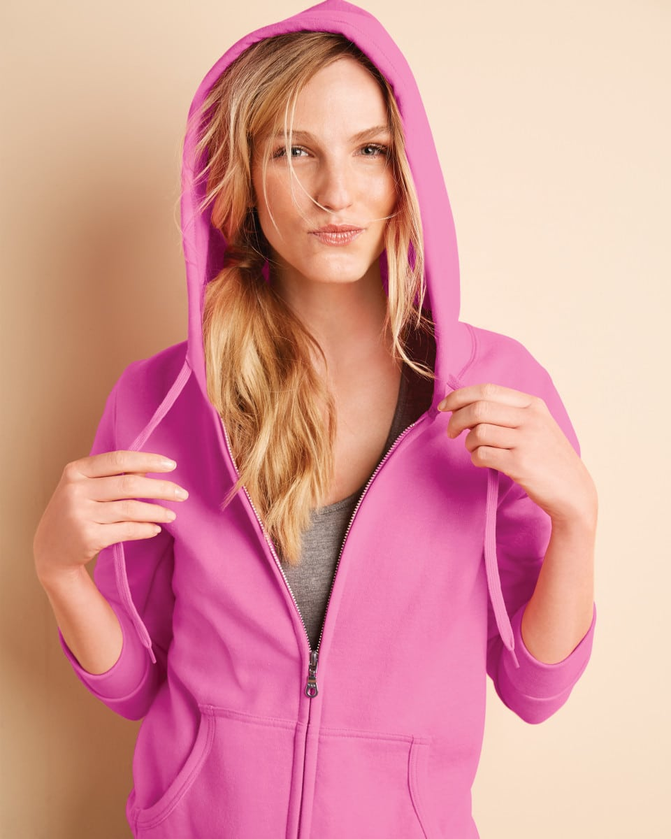 Ladies' Zipped Hooded Sweatshirts