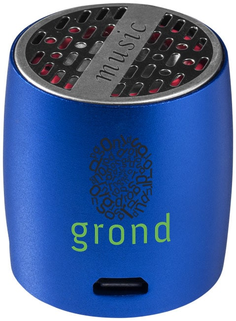 portable speakers to be branded and used as a swag bag idea